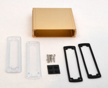 Extruded Aluminum Enclosure Gold with plastic cover EXN-23360-GDP