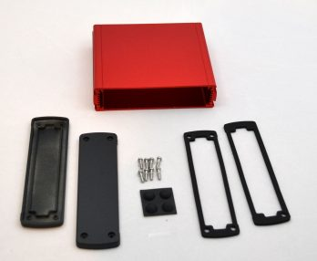 Extruded Aluminum Enclosure Red EXN-23360-RD