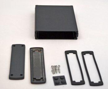 Extruded Aluminum Enclosure Black EXN-23361-BK