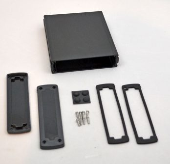 Extruded Aluminum Enclosure Black with plastic cover EXN-23361-BKP