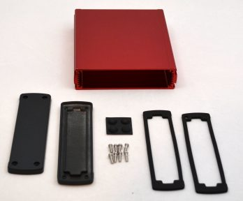 Extruded Aluminum Enclosure Red EXN-23361-RD