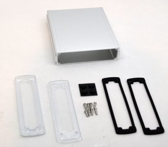 Extruded Aluminum Enclosure Silver with Plastic Cover EXN-23361-SVP