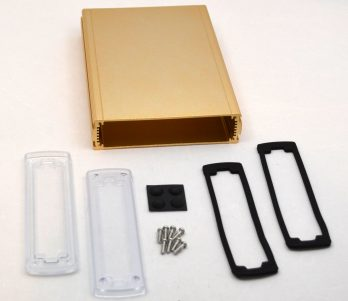 Extruded Aluminum Enclosure Gold with plastic cover EXN-23362-GDP