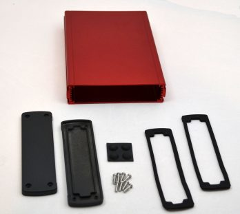 Extruded Aluminum Enclosure Red EXN-23362-RD