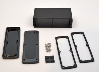 Extruded Aluminum Enclosure Black with plastic cover EXN-23363-BKP
