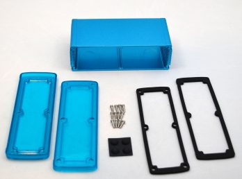 Extruded Aluminum Enclosure Blue with Plastic Cover EXN-23363-BLP