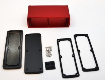 Extruded Aluminum Enclosure Red EXN-23363-RD