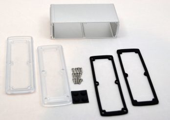 Extruded Aluminum Enclosure Silver with Plastic Cover EXN-23363-SVP