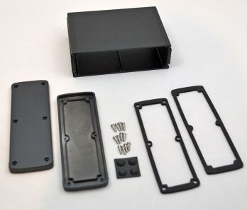 Extruded Aluminum Enclosure Black EXN-23364-BK