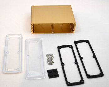 Extruded Aluminum Enclosure Gold with plastic cover EXN-23364-GDP