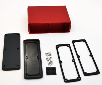 Extruded Aluminum Enclosure Red EXN-23364-RD