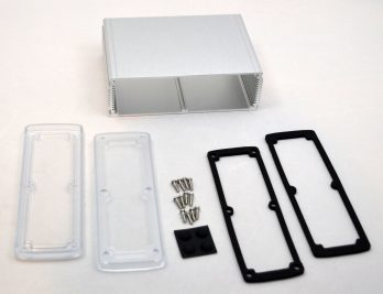 Extruded Aluminum Enclosure Silver with Plastic Cover EXN-23364-SVP