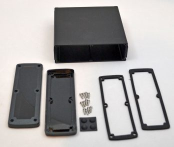 Extruded Aluminum Enclosure Black with plastic cover EXN-23365-BKP