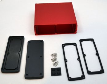 Extruded Aluminum Enclosure Red EXN-23365-RD