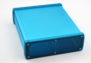 Extruded Aluminum Enclosure Blue with Plastic Cover EXN-23366-BLP
