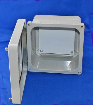 NF Series Fiberglass Enclosure with Hinged Screw-Down Cover