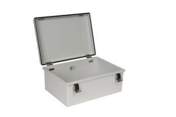 Fiberglass Box with Self-Locking Latch PTH-22428 open
