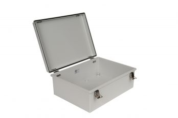 Fiberglass Box with Self-Locking Latch PTH-22430 open