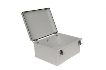 Fiberglass Box with Self-Locking Latch PTH-22432 open