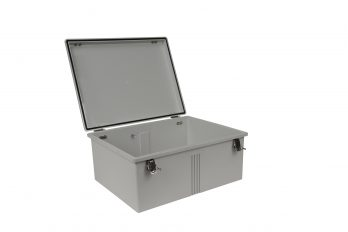 Fiberglass Box with Self-Locking Latch PTH-22436 open