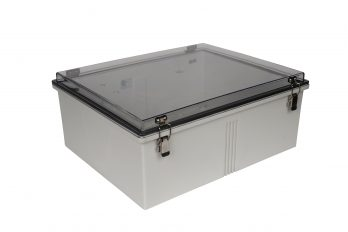 Fiberglass Box with Self-Locking Latcsedh and Clear Cover PTH-22438-C cl