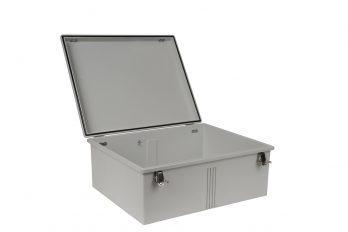 Fiberglass Box with Self-Locking Latch PTH-22438 open