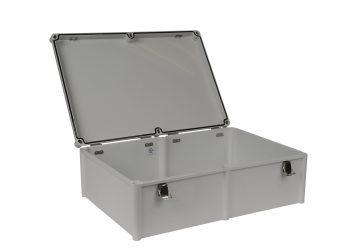Fiberglass Box with Self-Locking Latch PTH-22440 open