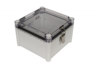 Fiberglass Box with Self-Locking Latch and Clear Cover PTH-22442-C closed