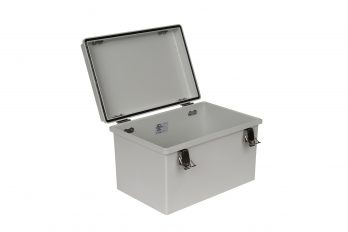 Fiberglass Box with Self-Locking Latch PTH-22446 open