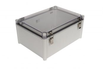 Fiberglass Box with Self-Locking Latch and Clear Cover PTH-22456-C closed