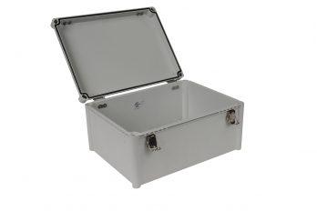 Fiberglass Box with Self-Locking Latch PTH-22456 open
