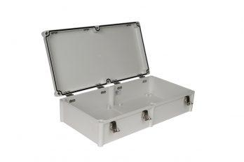 Fiberglass Box with Self-Locking Latch PTH-22458 open