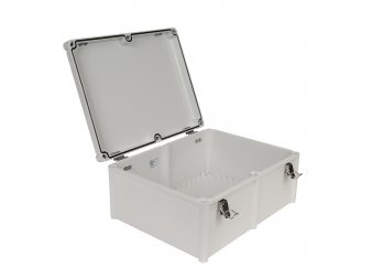 Fiberglass Box with Self-Locking Latch PTH-22460 open
