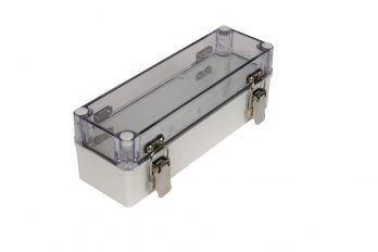 Fiberglass Box with Self-Locking Latch and Clear Cover PTH-22480-C closed