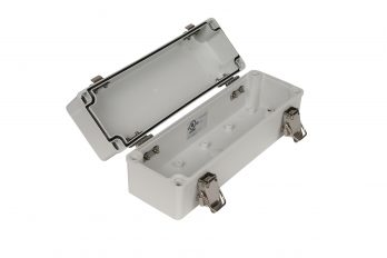 Fiberglass Box with Self-Locking Latch PTH-22480 open
