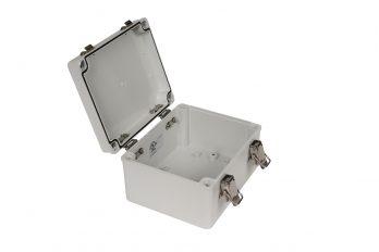 Fiberglass Box with Self-Locking Latch PTH-22490 open