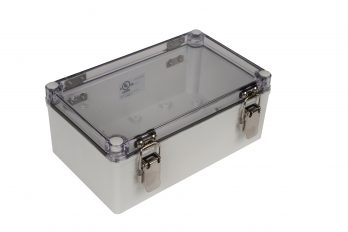Fiberglass Box with Self-Locking Latch and Clear Cover PTH-22492-C closed