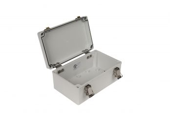 Fiberglass Box with Self-Locking Latch PTH-22492 open