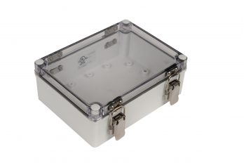 Fiberglass Box with Self-Locking Latch and Clear Cover PTH-22496-C closed