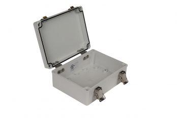 Fiberglass Box with Self-Locking Latch PTH-22496 open