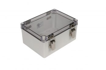 Fiberglass Box with Self-Locking Latch and Clear Cover PTH-22498-C losed