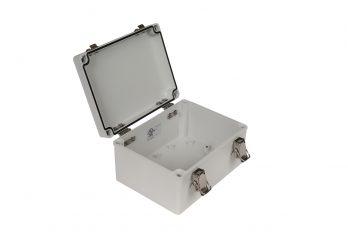 Fiberglass Box with Self-Locking Latch PTH-22498 open