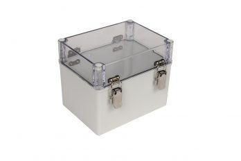 Fiberglass Box with Self-Locking Latch and Clear Cover PTH-22502-C closed