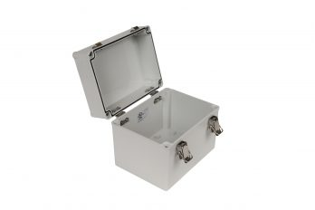 Fiberglass Box with Self-Locking Latch PTH-22502 open