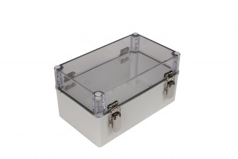 Fiberglass Box with Self-Locking Latch and Clear Cover PTH-22506-C closed