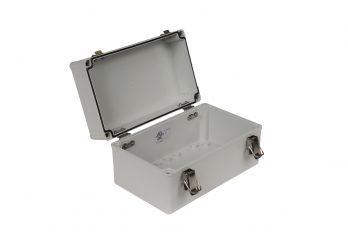 Fiberglass Box with Self-Locking Latch PTH-22506 open