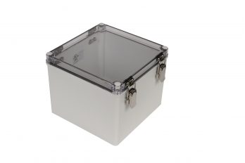 Fiberglass Box with Self-Locking Latch and Clear Cover PTH-22510-C closed