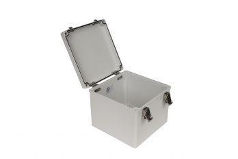 Fiberglass Box with Self-Locking Latch PTH-22510 open