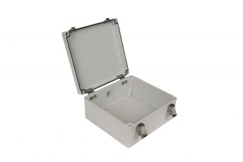 Fiberglass Box with Self-Locking Latch PTH-22512 open