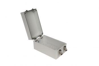Fiberglass Box with Self-Locking Latch PTH-22706-L open